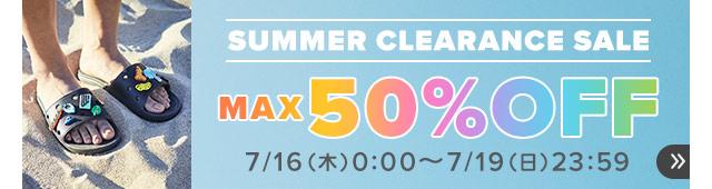 クロックス MAX50%OFF SUMMER CLEARANCE SALEのイメージ画像