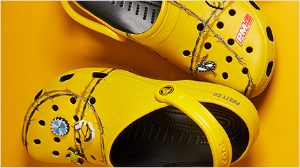 Post Malone X Crocs Barbed Wire Clog.