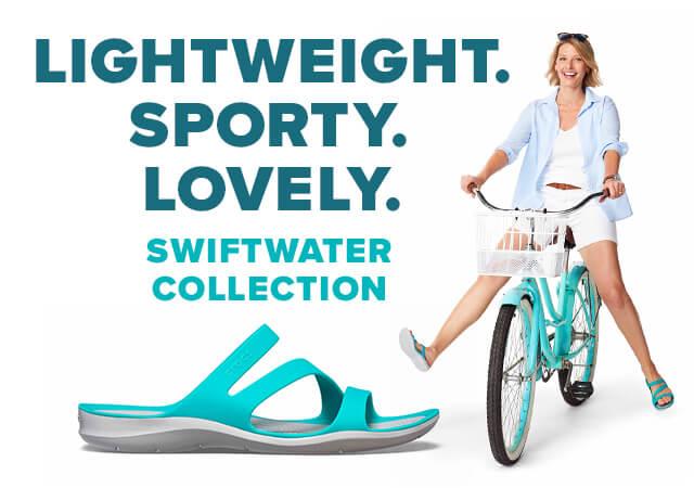 クロックス スウィフトウォーター-swiftwater-「陸上でも水中でも!アクティブなスタイルで軽快な履き心地のサンダルコレクション」クロックス公式オンラインショップ。公式ならではの豊富な品揃え。日本全国送料無料。最短翌日お届け。
