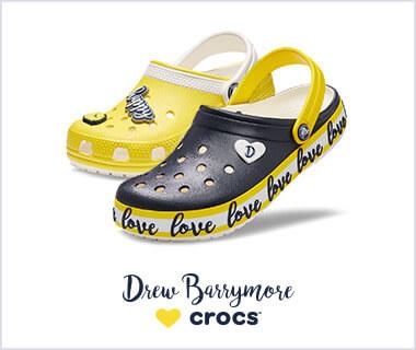 クロックス Drew Barrymore♡Crocs ドリュー・バリモアが「LOVE」をテーマにデザインした限定シューズ